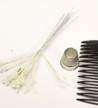 Bunch of 12 Pearl 5 Strand Flower Making Peps